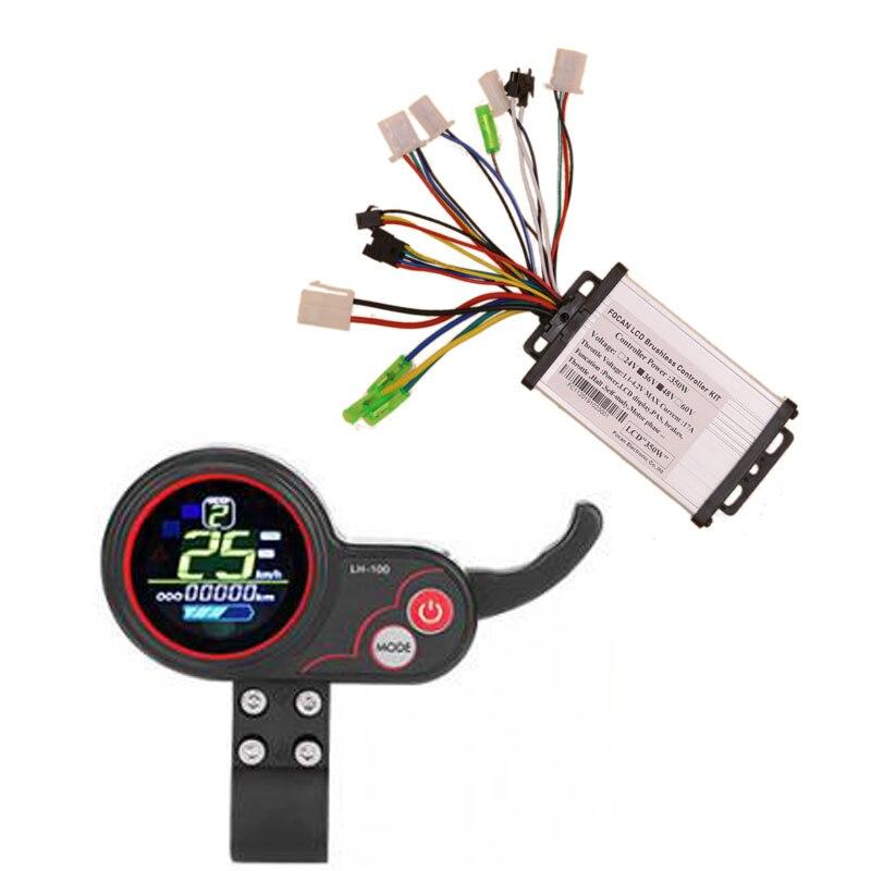 36V 48V 350W Бесщеточный вентилятор постоянного тока бесщеточный контроллер ЖК дисплей Дисплей LH 100 Панель дроссельная заслонка Электрический велосипед Скутер
