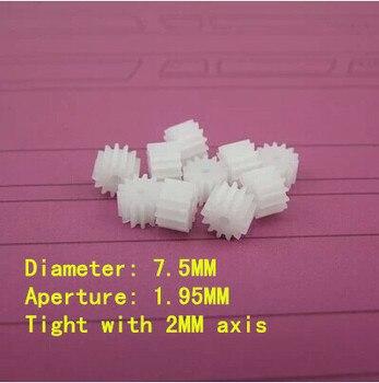 Eje de rueda Dientes rectos 132A 0,5 módulo 13 dientes adentro diámetro 2MM DIY modelos de coche de juguete piezas de engranaje de motor