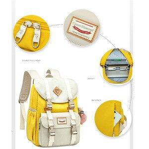 Image 3 - 소녀를위한 새로운 주니어 학교 가방 배낭 학생 어린이 가방 간결한 방수 캠퍼스 배낭 Plecak Szkolny Mochila Ruedas