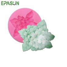 EPASUN силиконовая форма для мыла в форме цветка, помадка для украшения, сделай сам, смола для изготовления, форма для сахарного ремесла, Seifenform, ручной работы, инструмент для рукоделия