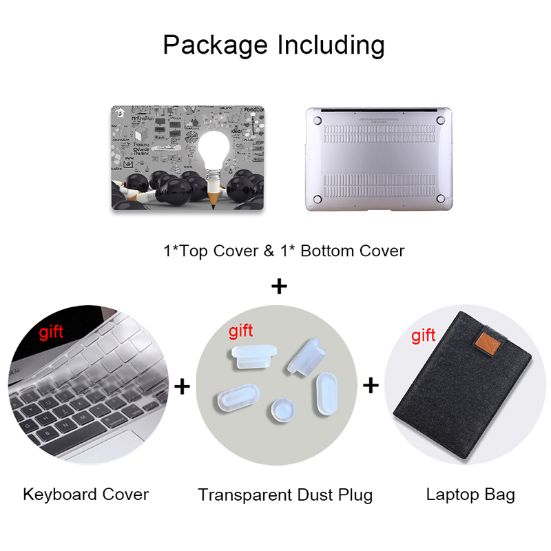 Image 2 - MTT Laptop Sleeve For Macbook Air Pro 11 12 13 15 Retina With Touch Bar Light Bulb Print Case For Apple Mac book 13.3 inch Cover-in Laptop Bags & Cases from Computer & Office