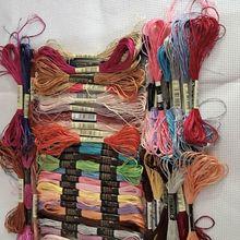 10 шт нить, Аналогичная DMC шелковая нить для вышивки крестиком, хлопковая нить для вышивки, нить для шитье, моток пряжи, крафтовые цвета