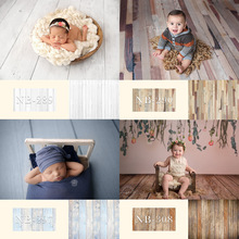 Portrait Photography Backdrop Photo-Studio Wooden Floor Birthday Newborn-Baby for Children
