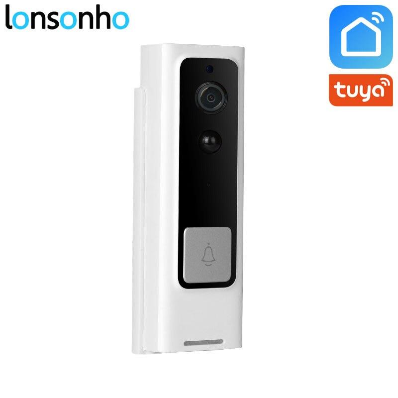 Lonsonho Smart Wifi Doorbell Camera Ring Door Bell Tuya Smart Life App Intercom PIR Motion Detector Night Vision Security Camera