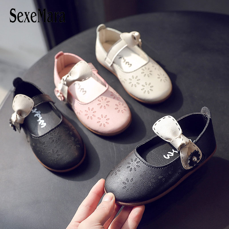 2020 Princess Shoes For Kids New Spring Lovely Bowknot Toddler Girl Sneakers Soft Bottom Children Party Girl Sandals Baby D01203