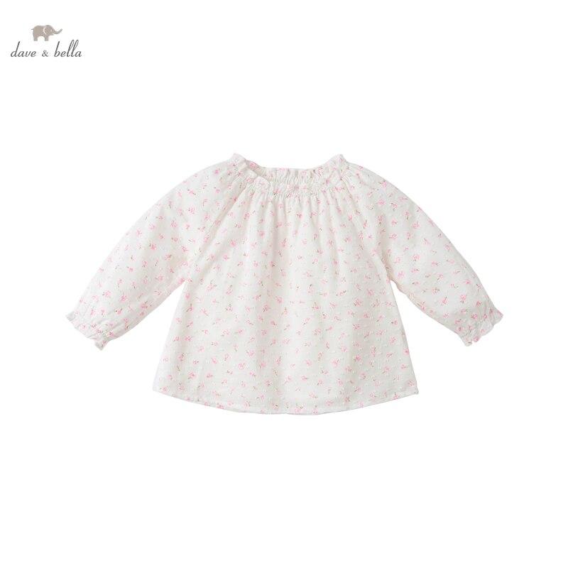 DB16740 нижнее белье в стиле бренда dave bella/комплект весенней модной одежды для маленьких девочек рубашка с цветочным рисунком для младенцев; Топы для детей ясельного возраста; Детская одежда высокого качества|Блузки и рубашки| | АлиЭкспресс