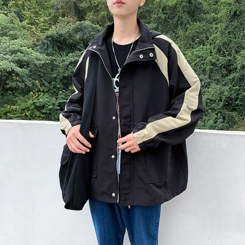 Autumn & Winter New Style Korean-style Japanese-style Mixed Colors Hooded Jacket Men's Sports Students Trend Casual Workwear Jac