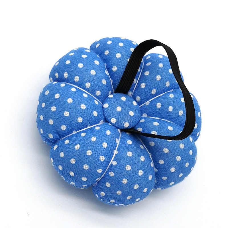 1PC ใหม่ฟักทองรูปร่างเย็บ PIN เบาะผ้าฝ้ายปุ่มสายรัดข้อมือสำหรับ CROSS Stitch เย็บความปลอดภัย PIN Cushion อุปกรณ์เสริม