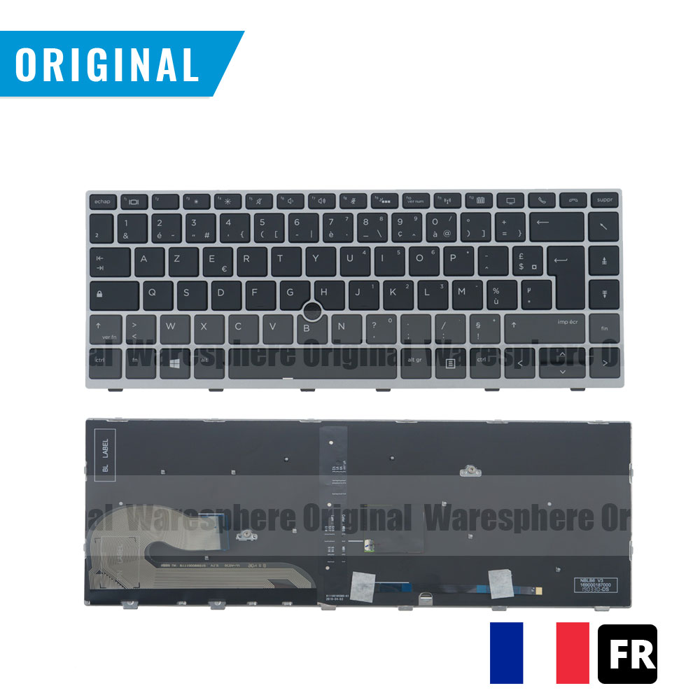 New Original FR Backlit Keyboard for HP EliteBook 840 G5 with Mouse Point French Layout