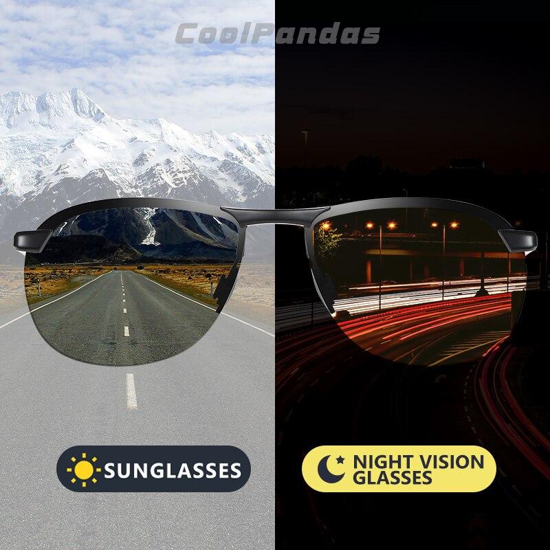 2020 Brand Photochromic Men Sunglasses Polarized Glasses Day Night Vision Driving Sun Glasses For Male Oculos De Sol Masculino 1