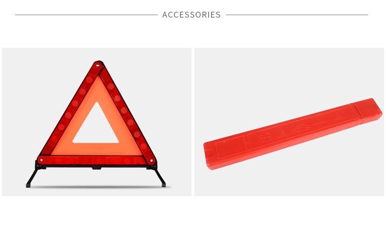 Triângulo refletor de emergência, tripé para carro,