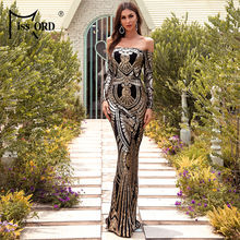 Missord женское сексуальное платье с открытыми плечами и длинным