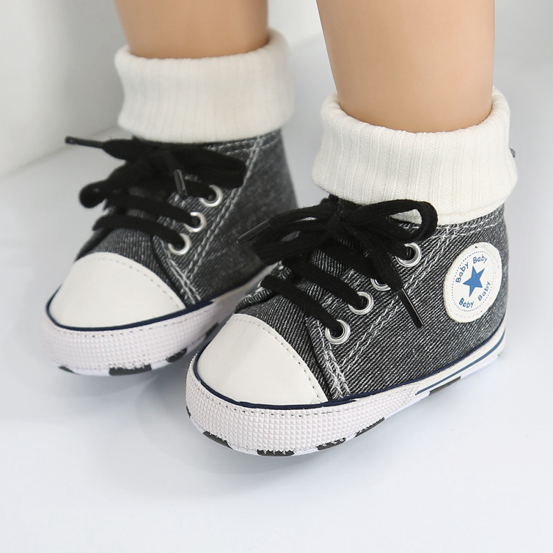 2019 Autumn Winter Toddler Children Canvas Shoes Boys Girls Sneakers Fashion High Tops Lace Up Casual Kids Walking Shoes