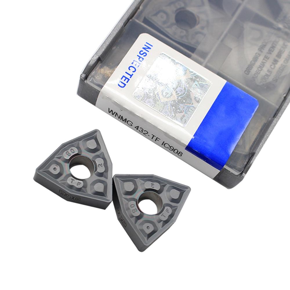 External Turning Tools WNMG080408 TF IC908 WNMG432 Carbide Inserts Lathe 20pcs