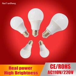 B22 E27 Haotiancheng lâmpada led Conduziu a Lâmpada 220V 230V 240v led Light bulb 3W 5W 7W 9W 12W 15W SMD2835 lampadas levou luz de velas