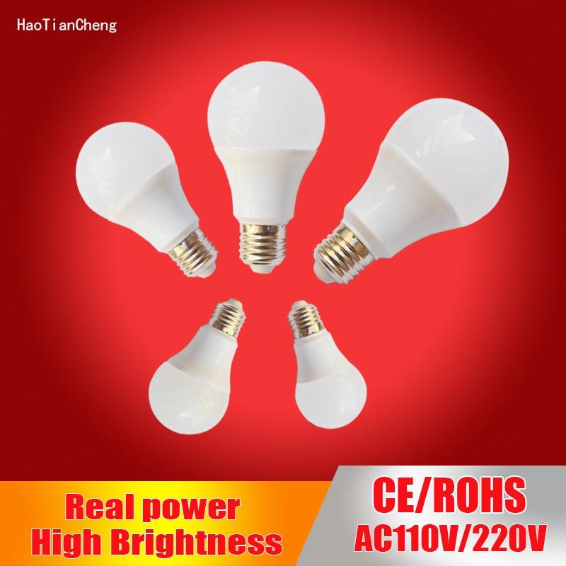 Haotiancheng Led Bulb E27 Led Lamp B22 220V 230V 240v Led Light Bulb 3W 5W 7W 9W 12W 15W SMD2835 Lampadas Led Candle Light