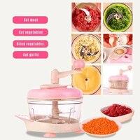 Küchenmaschine Manuelle Multifunktionale Fleischwolf Hand Ziehen Chopper für Home Küche WXV Verkauf-in Manuelle Fleischwölfe aus Heim und Garten bei