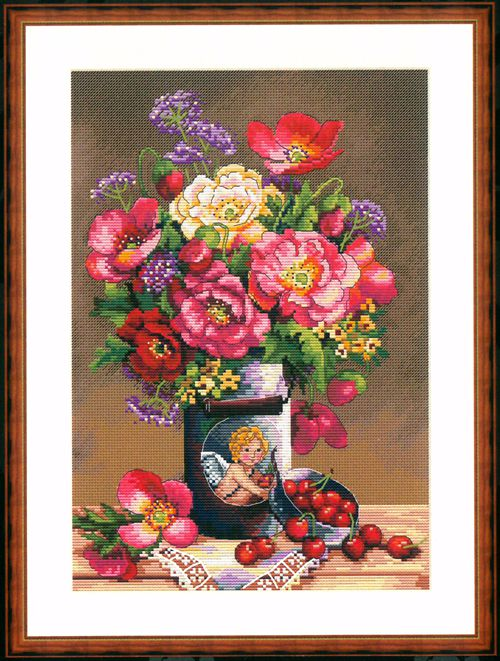 HH MM Gold Collection Counted Cross Stitch Kit Cross stitch RS cotton with cross stitch <font><b>Merejka</b></font> K-91 image
