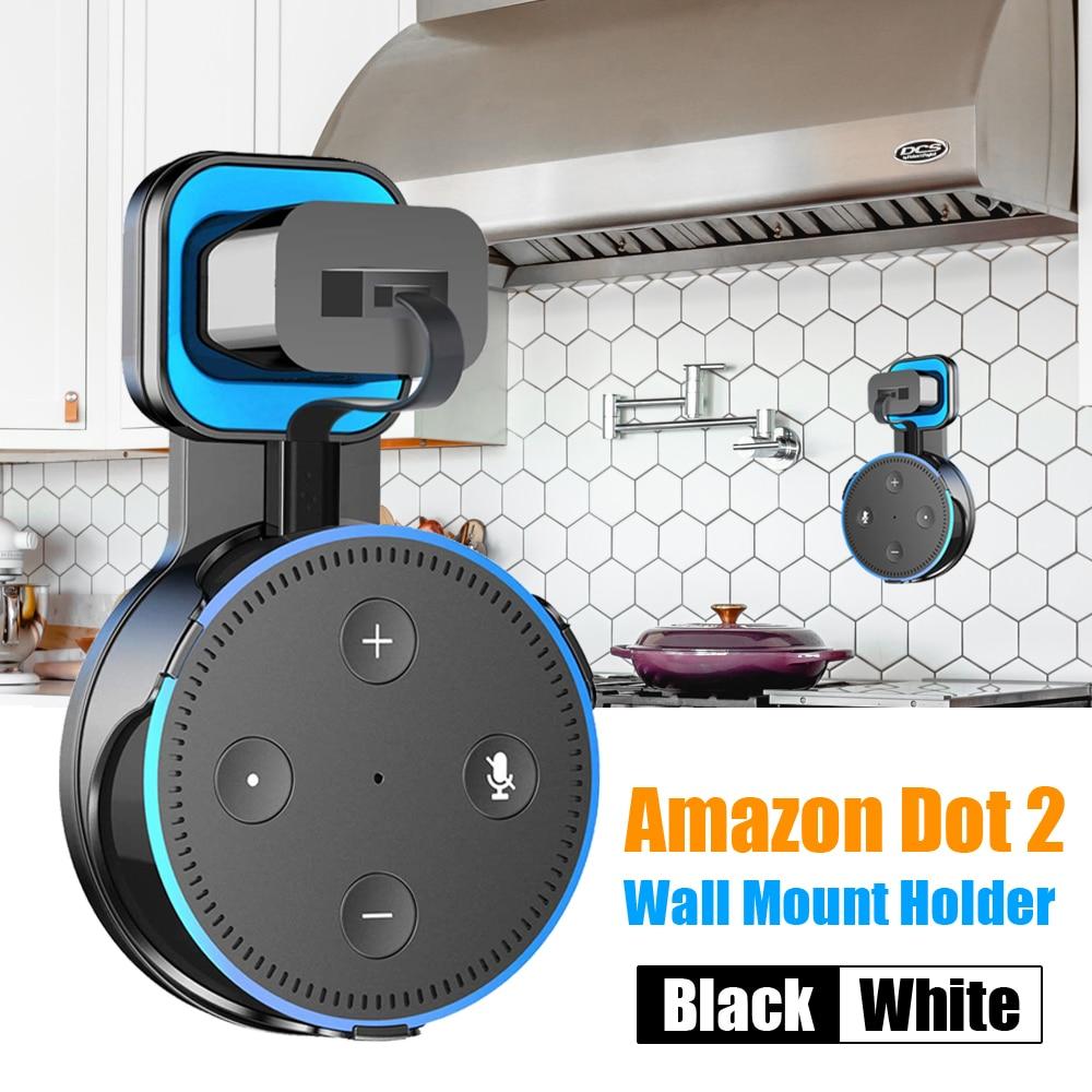 Wall Mount Holder Stand Hanger For Amazon Echo Dot 2nd Generation Indoor Speaker Sound Box Holder Case