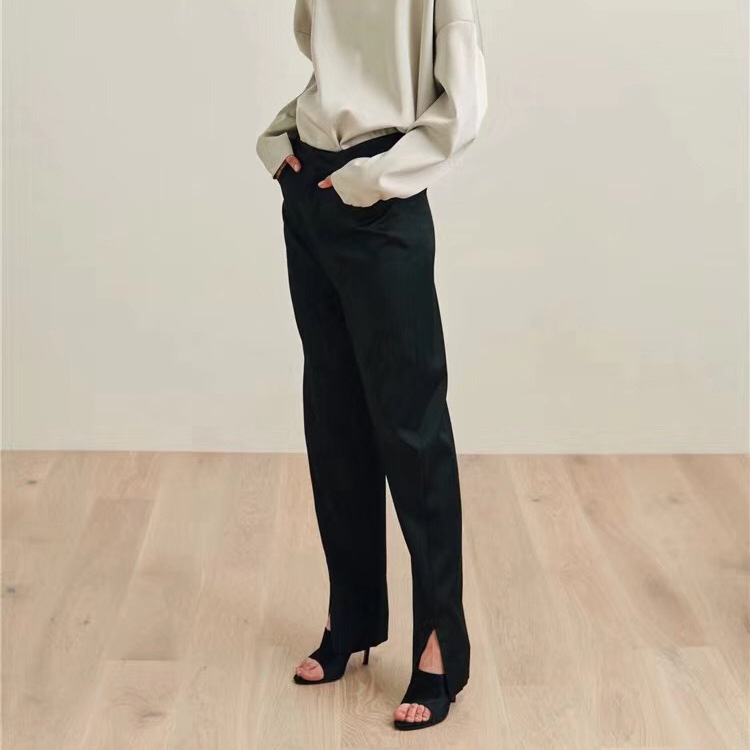 Nordic 2019 Spring and Summer Asymmetrical Classic Curved Women s Open Suit Pants Women Pants