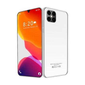 Global i12 Plus Smartphone 6.7 Inch 32MP Android Snapdragon 865 10 Core 8GB RAM 256GB ROM 5600mAh 5G Dual SIM Mobile Phones