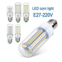 цена на E27 LED corn Lamp warm cold white LED Bulb SMD5730 220V Corn Bulb 24 36 48 56 69 72 LEDs Chandelier Light For Home Decoration