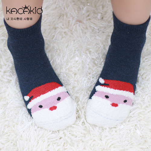Autumn And Winter New Style Ying Tong Wa Men And Women Children Christmas Coral Velvet Socks Short Socks Comfortable Cotton Sock