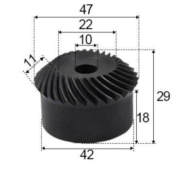 1.5M-30T/30T   Precision spiral bevel gear helical gear-Diameter:42mm  hole d:10mm