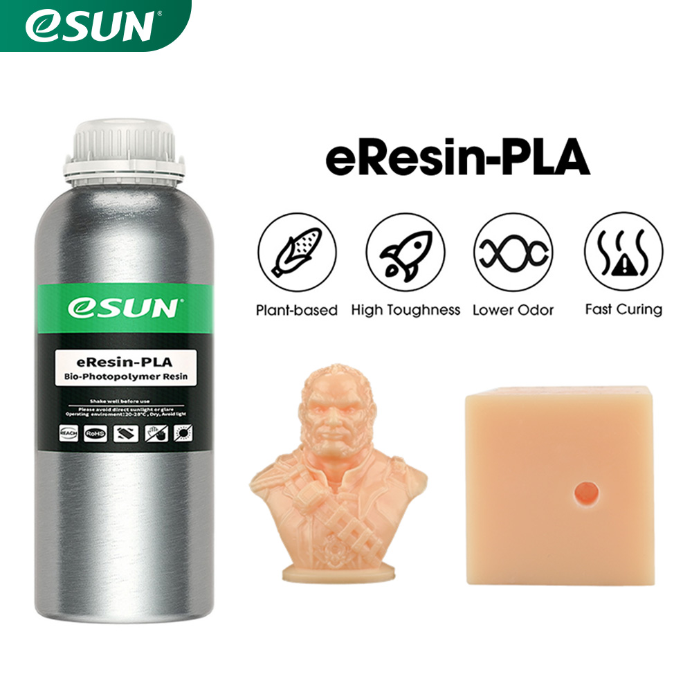 3D принтер eSUN LCD UV 405 нм, быстрая полимерная смола для 3D принтера, жидкая биоразлагаемая смола для фотонного УФ-отверждения, ЖК 3D-принтер 1 кг