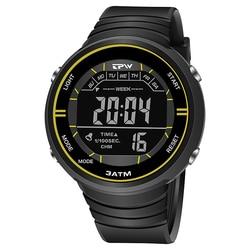 Tough Watches Shock Resistant Outdoor Sport  3ATM Waterproof Alarm Clock Canlender Black Light
