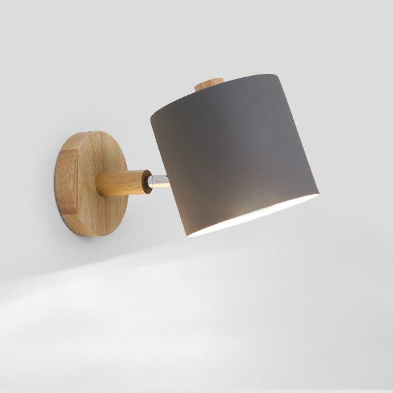 Simple Bedroom Solid Wood Wall Lamp Scandinavian Creative Macaron Colour Wall Lamp Straight Tube Corridor Wall Lamp|Wall Lamps| |  - title=