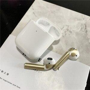 Кожаная наклейка для Apple Airpods, защитная гарнитура для Airpods, наклейка для наушников, защита от пыли, наклейки на наушники, ультратонкие тонкие аксессуары