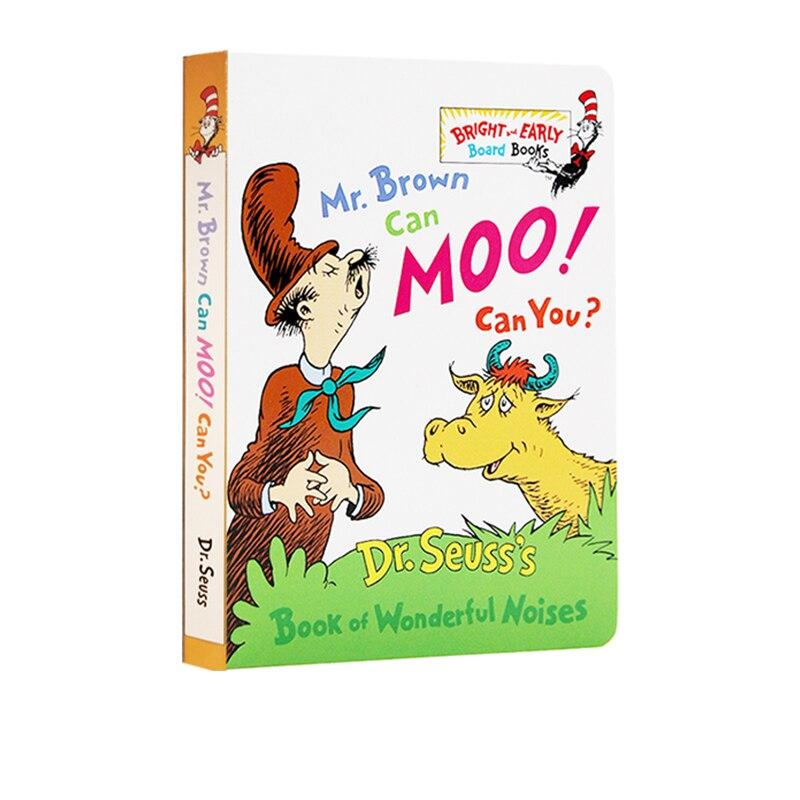 ingles dr seuss mr brown pode moo voce pode ler cartao livro de imagens das criancas