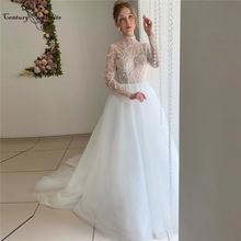 Свадебные платья с высоким воротом в стиле бохо 2020 платье