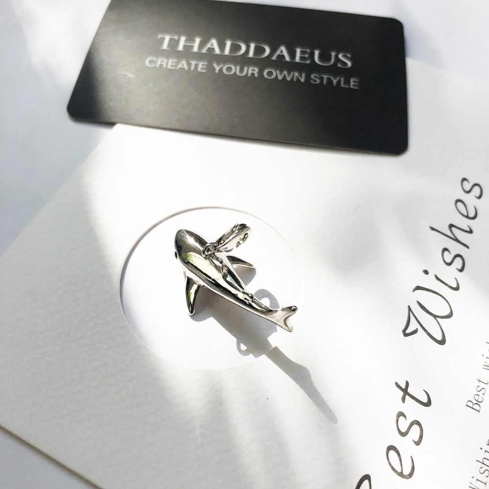 قلادة القرش ، 2017 العلامة التجارية الجديدة مجوهرات الأزياء توماس بيجو إكسسوارات عقد 925 فضة العصرية هدية للمرأة Ts الرجال