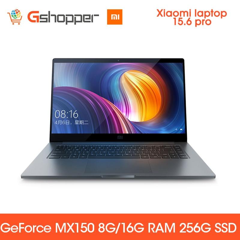 Xiaomi del Taccuino del computer portatile Pro 15.6 Intel Core I7 16G ram ssd da 256GB Finestre 10 2G DDR4 2400 1920x1080 di Riconoscimento Delle Impronte Digitali