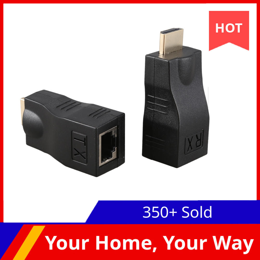 4K 3D HDMI 1.4 30M Extender to RJ45 Over Cat 5e/6 Network LAN Ethernet Adapter|HDMI Cables| - AliExpress