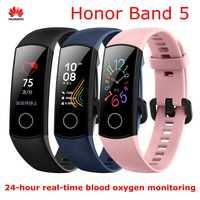"""Huawei Honor Fascia 4 5 Intelligente Del Braccialetto 0.95 """"OLED Touch Screen Impermeabile Inseguitore di Fitness braccialetto Frequenza Cardiaca Monitor di Dormire"""