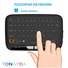 English Mini Keyboard 2.4G RF Air mouse Wireless Keyboard Remote Control With Voice Backlight for Android Smart TV Box X96 MAX q9 mini keyboard 2 4ghz wireless keyboard with touchpad air mouse remote control for android tv box t9 x96 mini max aaa battery