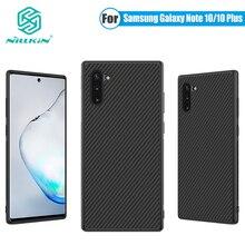 บางSlimสำหรับSamsung Galaxyหมายเหตุ10 PlusกรณีNillkinสังเคราะห์คาร์บอนไฟเบอร์กลับไนลอนสำหรับSamsung Galaxy Note 10