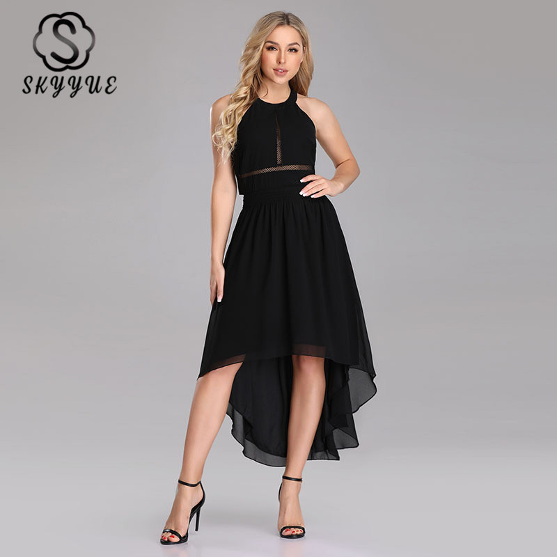 Skyyue Three Quarter Sleeve Evening Dress Women Party Dresses 2019 New V-neck Off The Shoulder Robe De Soiree Formal Gowns C475
