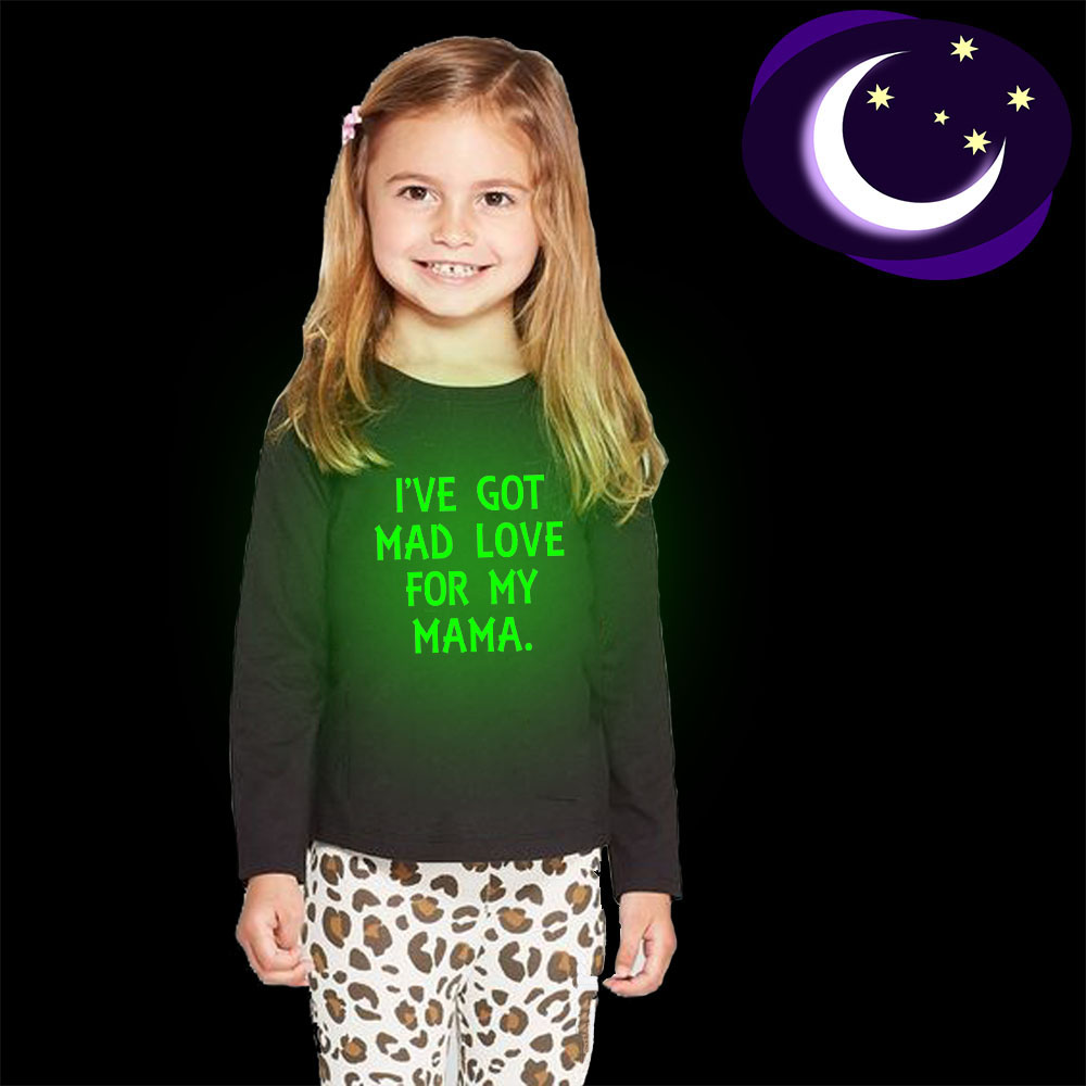 I've Got Mad Love for My Mama Kids Clothes Children Boys T Shirt Baby T-shirts Long Sleeve Tees Clothing Tops Luminous T-shirt image