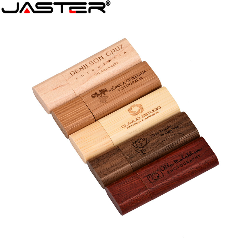 JASTER LOGO Maple Wood/Walnut Wood Pendrive 4gb 8gb 16gb 32gb Usb2.0 Usb Flash Drive Gift Pendrive