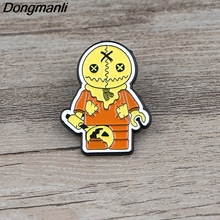 K620 Horror Film Trick 'R Treat Pins Metal Brooches and Pins Enamel Pin for Backpack/Bag Badge Brooch T-shirt Collar Jewelry k313 trick r treat horror pins metal brooches and pins enamel pin for backpack bag badge brooch t shirt halloween jewelry