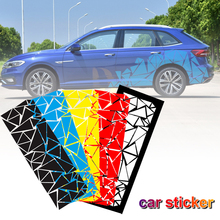 Universal Car stickers Glossy Black Freestanding Triangle Graphics Auto Decal Sticker for Car Side Body Exterior Car Accessories