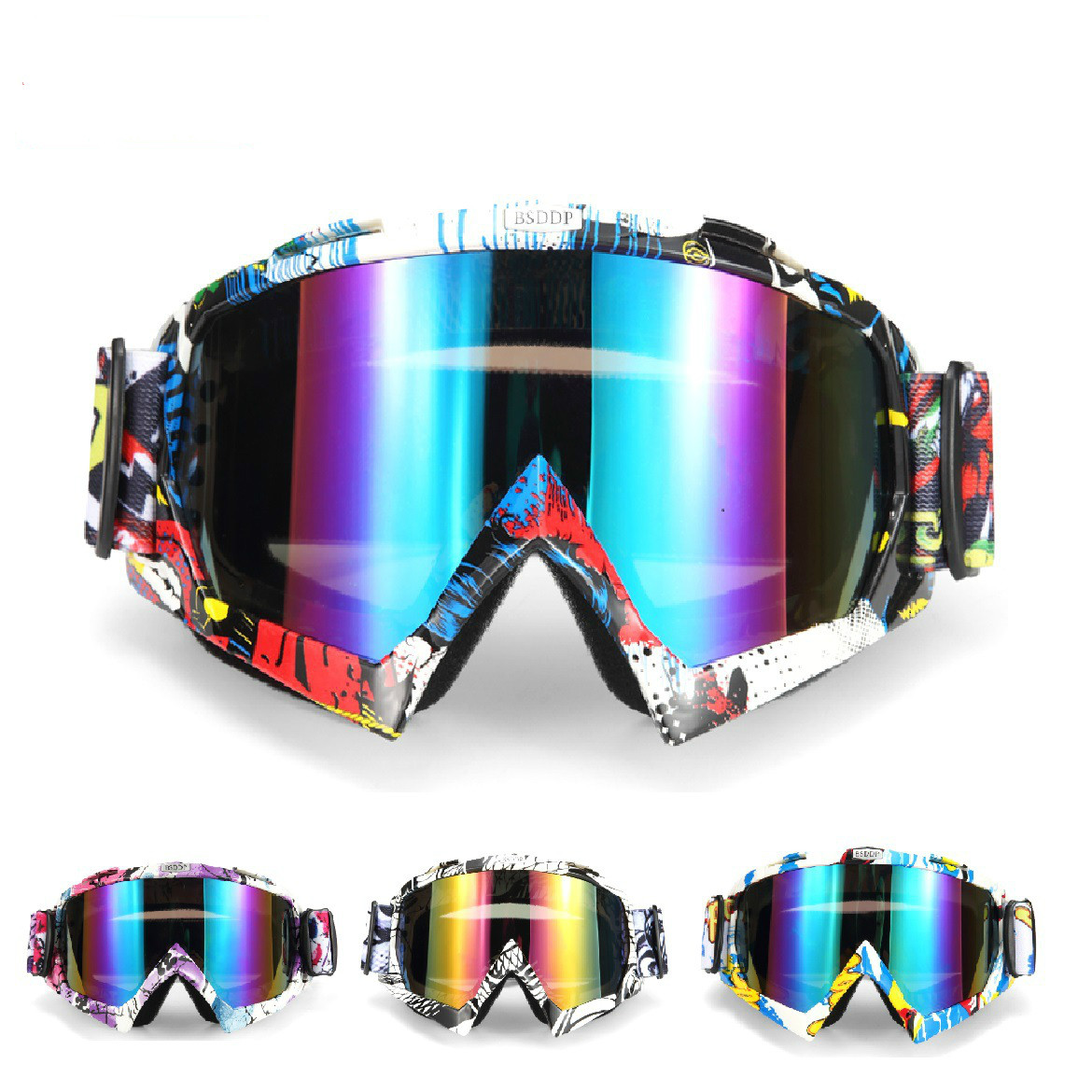 Outdoor Sports Off road Motorcycle Helmet Goggles Windshield Windproof Sandproof Cycling Glasses Riding Equipment|Cycling Eyewear| |  -