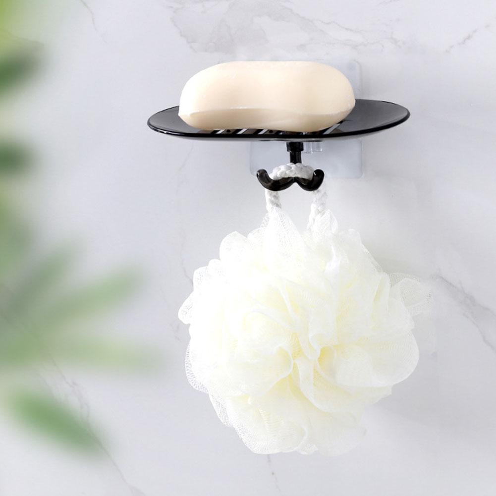 Punch-free Soap Box Dishes Drain Holder Easy Decontamination No Radiation Practical Tray Bathroom Wall Hanging Rack Shelf