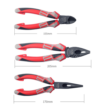 FGHGF Professional Superhard Alloy Forceps Wire Stripper Cutting Cable Cutter Diagonal Long Nose Nippers Electric Hand Tools 2