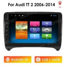 Autoradio 2 din android 10 rádio do carro para audi tt mk2 8j 2006-2012 2din tela de navegação estéreo do carro de áudio automático multimídia
