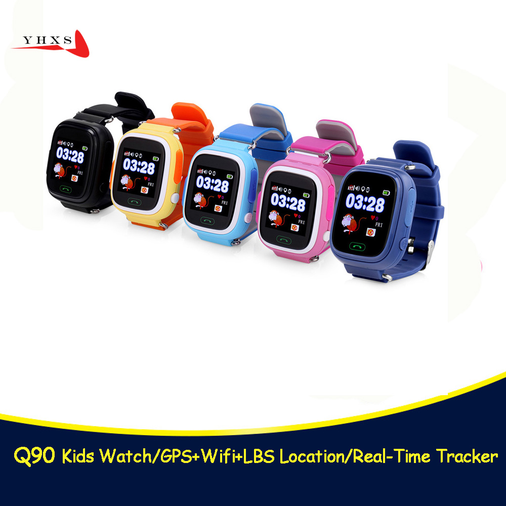 Smart GPS WIFI Tracker Location Finder SOS Call <font><b>Smartwatch</b></font> Phone Watch for Child Baby <font><b>Kid</b></font> Elder Anti-Lost Monitor <font><b>Q90</b></font> PK T58 Q50 image